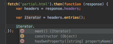 fetch-code-completion-iterator