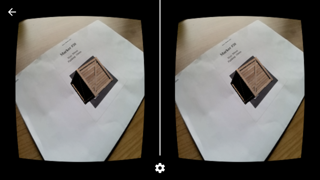 Augmented Reality for Cardboard style VR on a Nexus 5